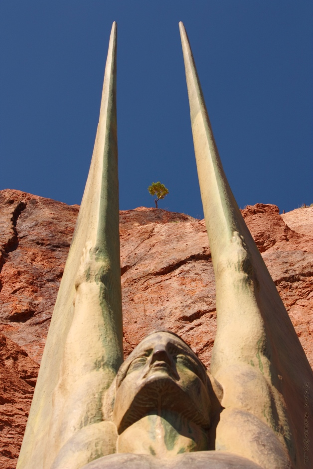 Hoover Dam Sculpture and Tree 3 Final
